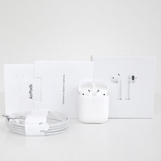Apple AirPods 2, копия 1в1 Чип 1536u. Наушники беспроводные белые