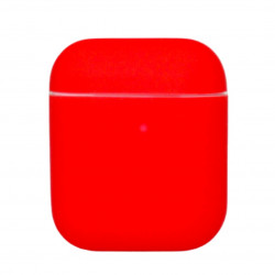 Чехол силиконовый для беспроводных наушников Apple AirPods Красный