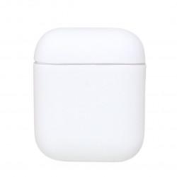 Чехол силиконовый для беспроводных наушников Apple AirPods Белый