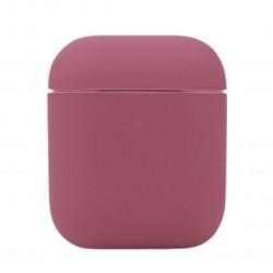 Чехол силиконовый для беспроводных наушников Apple AirPods Винный