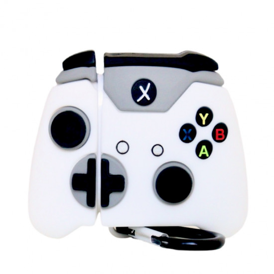 Чехол для Apple AirPods Xbox One S Controller 3D, силиконовый Белый